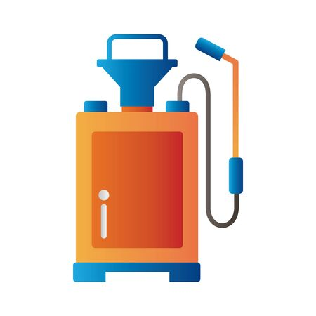 sprayer back degradient style icon vector illustration design