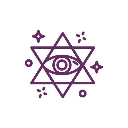 eye in star magic sorcery symbol vector illustration design