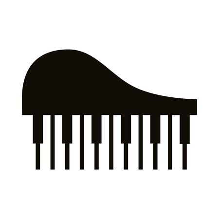 piano musical instrument silhouette style icon vector illustration design Illustration