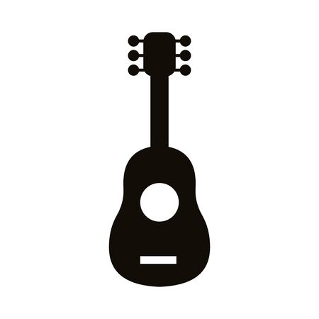 guitar musical instrument silhouette style icon vector illustration design