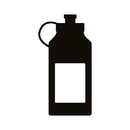 water gym bottle silhouette style icon vector illustration design