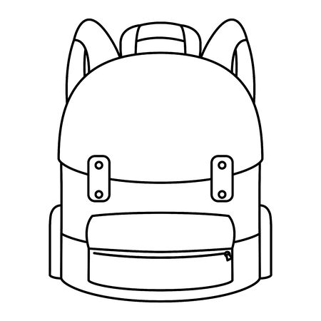 school bag equipment isolated icon vector illustration design