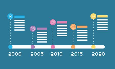 business infographic with years icons vector illustration Archivio Fotografico - 150559139