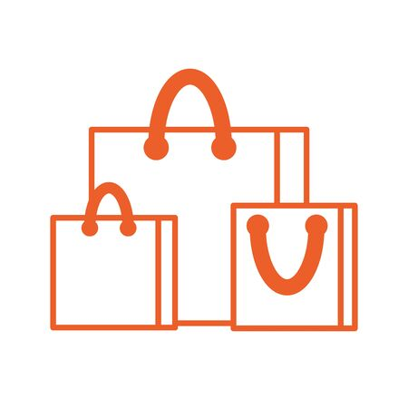 paper shopping bags isolated icon vector illustration design Ilustrace