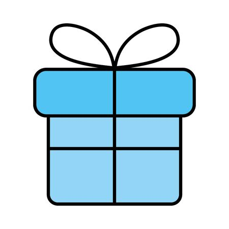 gift box present isolated icon vector illustration design Vectores