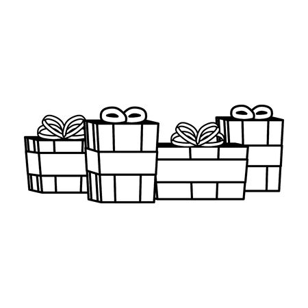 gifts boxes presents isolated icons vector illustration design Ilustracja