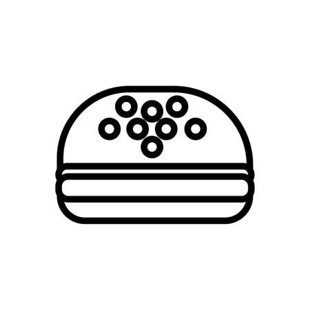 delicious burger fast food line style vector illustration design