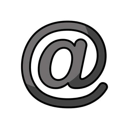 arroba social media icon vector illustration design Vettoriali