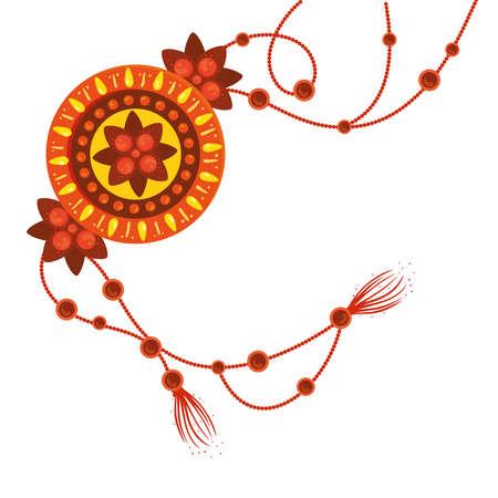 raksha bandhan, bracelet rakhi on white background vector illustration design