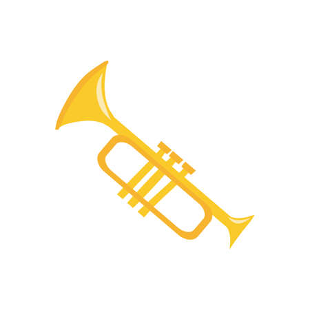 trumpet musical instrument isolated icon vector illustration design Stock fotó - 150619552