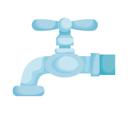 water tap faucet isolated icon vector illustration design Illustration