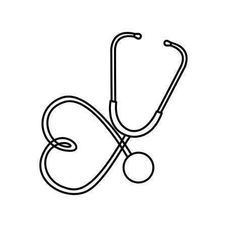 stethoscope medical device icon vector illustration design Vettoriali