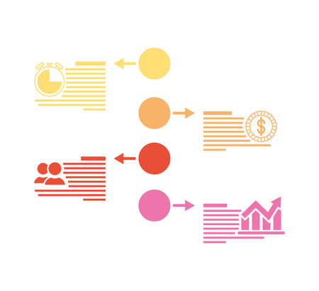 business infographic with circular icons vector illustration Archivio Fotografico - 150621245