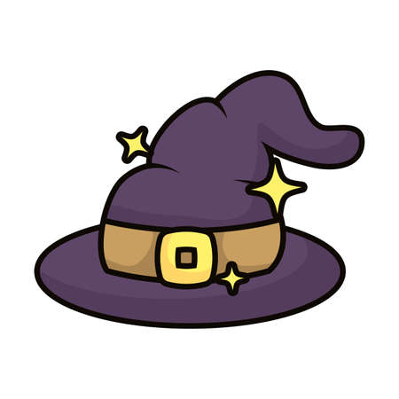 witch hat magic sorcery icon vector illustration design