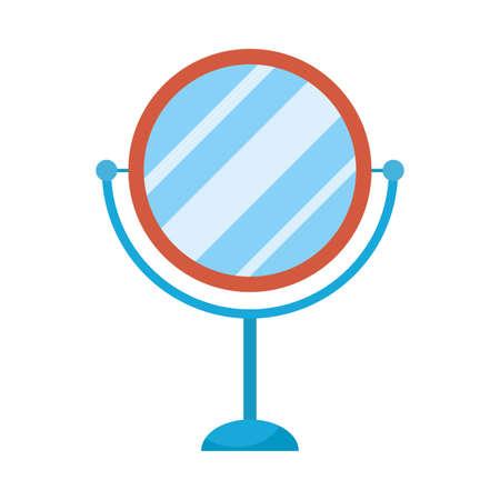 mirror make up accessory icon vector illustration design 向量圖像