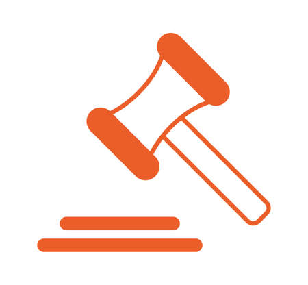 hammer wooden justice isolated icon vector illustration design
