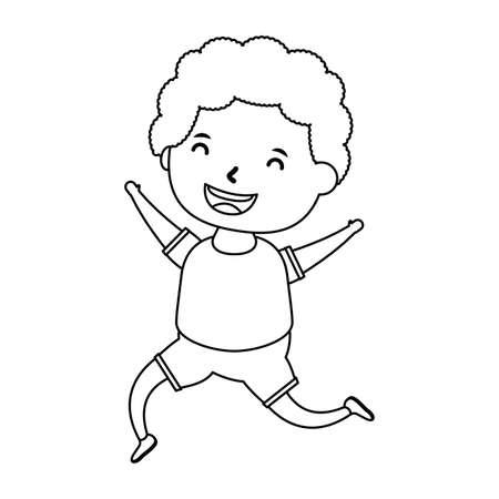cute little boy comic character vector illustration design Illusztráció
