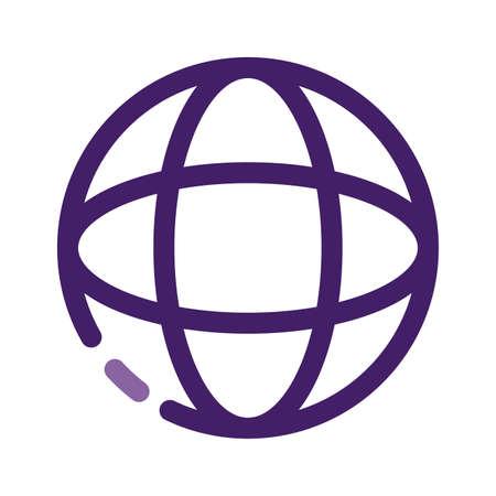 sphere browser globe line style icon vector illustration design