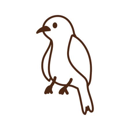 cute little bird animal character vector illustration design 일러스트