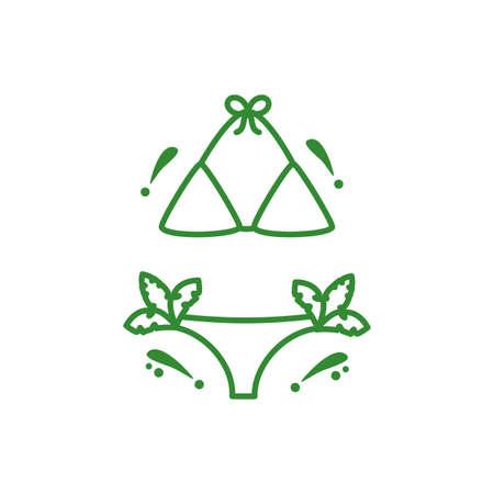 swimsuit female fashion isolated icon vector illustration design