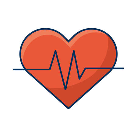 medical heart cardiology pulse icon vector illustration design