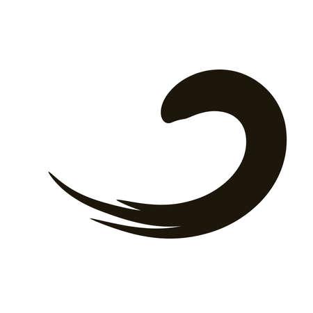 waves creative design with brush stroke silhouette style vector illustration design 免版税图像 - 150655318