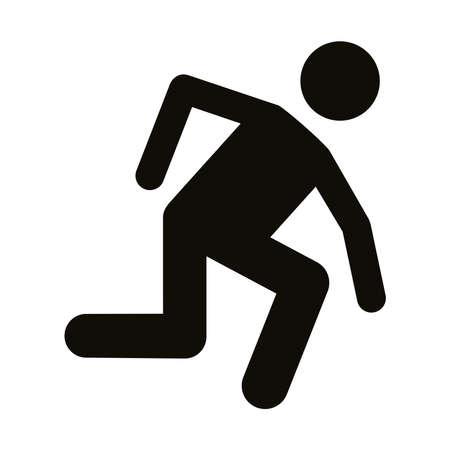 runner avatar figure silhouette style icon vector illustration design