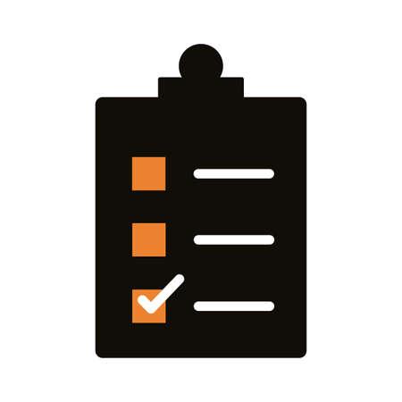 checklist clipboard silhouette style icon vector illustration design Stock Illustratie