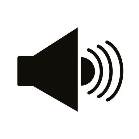 speaker sound audio silhouette style icon vector illustration design Vettoriali