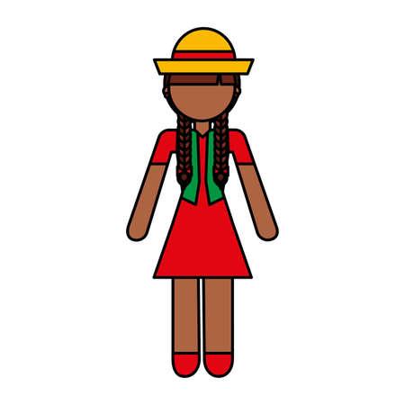 peasant woman avatar character vector illustration design Çizim