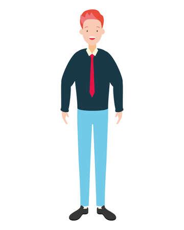 businessman character avatar on white background vector illustration
