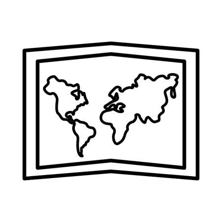 paper map line style icon vector illustration design 일러스트
