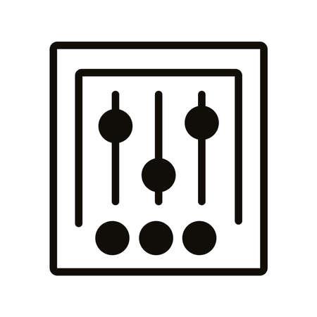 musical console control silhouette style icon vector illustration design
