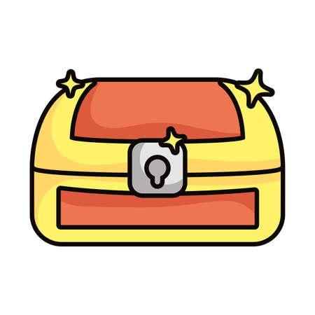 treasure chest magic isolated icon vector illustration design Ilustração