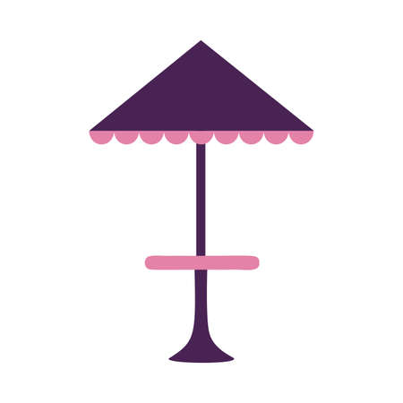 Park umbrella table design, Nature outdoor and season theme Vector illustration