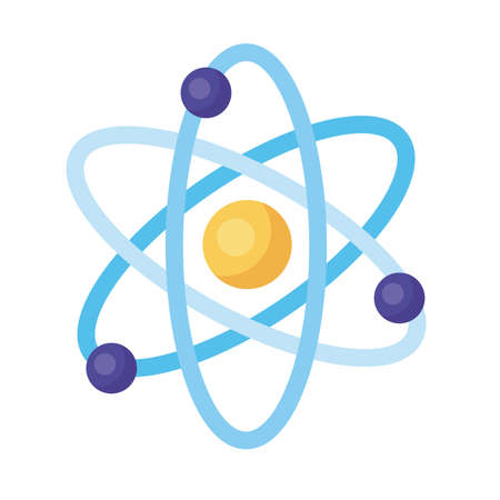 atom medical symbol detailed style icon vector illustration design