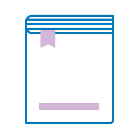 text book with ribbon marker line style icon vector illustration design Vectores