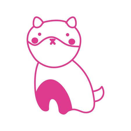 cute little dog pet mascot character vector illustration design