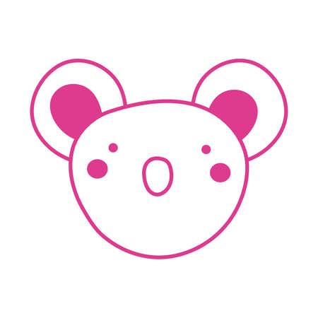 cute koala wild animal character icon vector illustration design