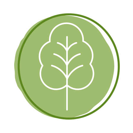 leaf plant block style icon vector illustration design Vectores