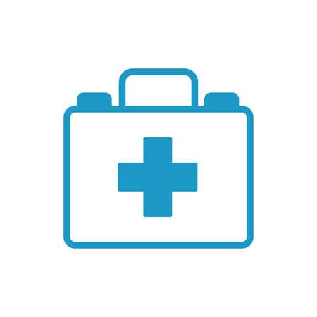 medicine drug kit line style icon vector illustration design  イラスト・ベクター素材
