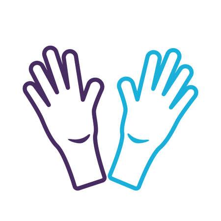 rubber gloves line style icon vector illustration design