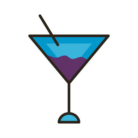 cocktail cup line and fill style icon vector illustration design