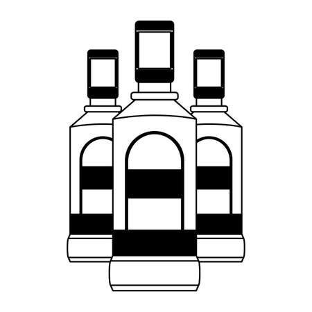 tequila bottles liquor on white background vector illustration