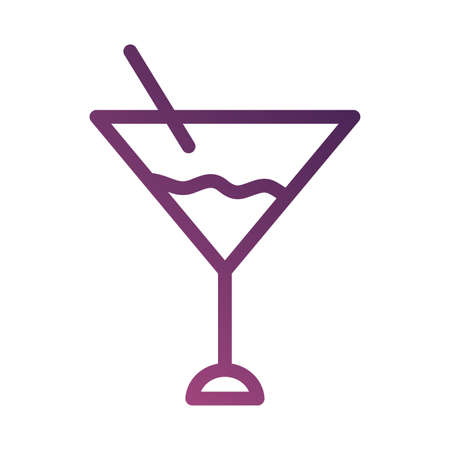 cocktail cup line degradient style icon vector illustration design Ilustracja