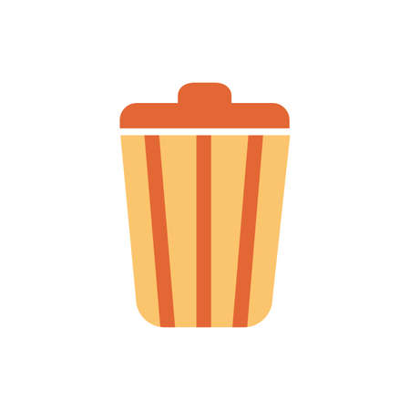garbage bin por flat style icon vector illustration design Vektorgrafik