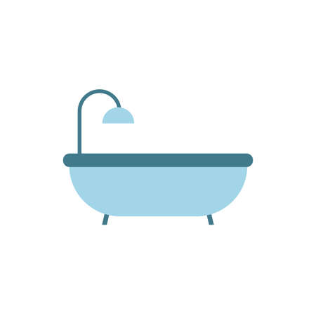 bath tube bathroom isolated icon vector illustration design 일러스트