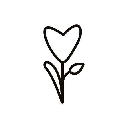beautifull flower garden spring line style vector illustration design