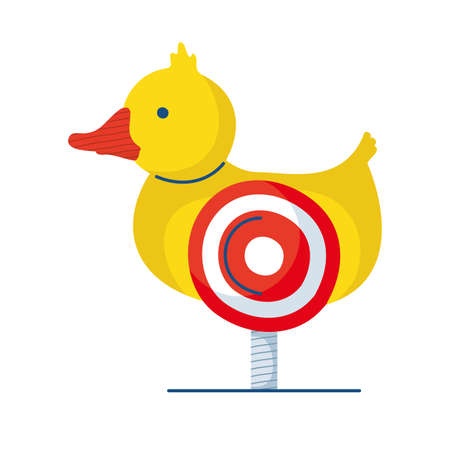 fair duck with target hand draw style vector illustration design