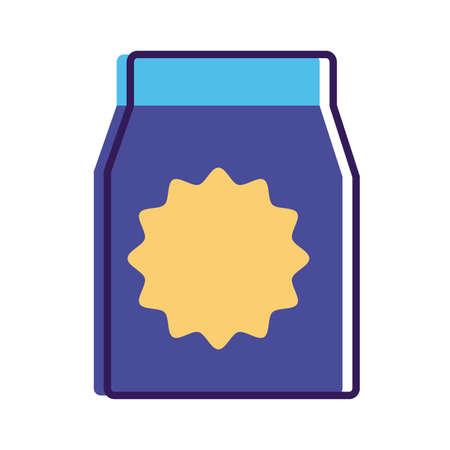 food paper bag line and fill style icon vector illustration design 일러스트